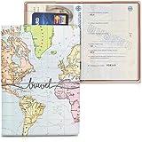 kwmobile Custodia compatibile con passaporto - Porta passaporto in design 3D - Con chiusura di sicurezza ad elastico - Protez
