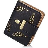 Portemonnaie Damen, Klein Leder Geldbörse Bifold Brieftasche Handtasche mit Bargeld/ID/Kreditkarte Halter, Frauen Vegane Geld