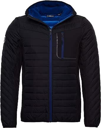 Superdry Men's Convection Hybrid Hooded Jacket, Black