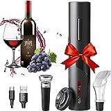 Amdo HSTD Cavatappi Senza Filo, Apribottiglie Vino Elettrico Set Micro USB, Taglia Foglio, Tappi per Vino, Anello per Vino In