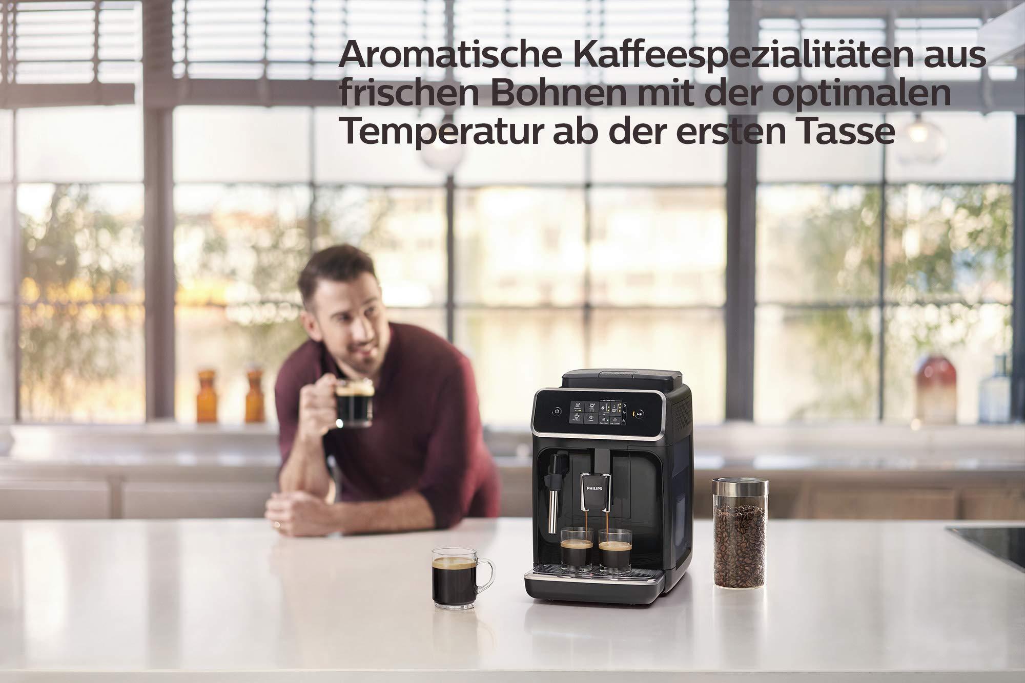 Philips-Kaffeevollautomat-klassischer-Milchaufschumer-und-SensorTouch-Benutzeroberflche