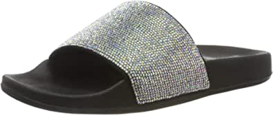 Skechers Cali POP UPS Stone Age Sandali/moda Donne Nero