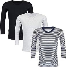 TupTam Unisex Kinder Unterhemd Langarm 3er Pack