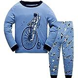 JinBei Pijamas para Niño Conjunto de Pijama Largo Algodon Primavera Infantil Manga Larga Camiseta 2 Piezas Pantalones Pajamas