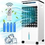 Climatiseur Portable, Refroidisseur D'air Ventilateur de Climatisation Refroidisseur Mobile Air Humidificateur avec Roues et