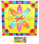 Jaykal Carrom Board with Snake Ladder 2 in 1 Game, Carromboard for Kids (Size: 14x14 Inch)