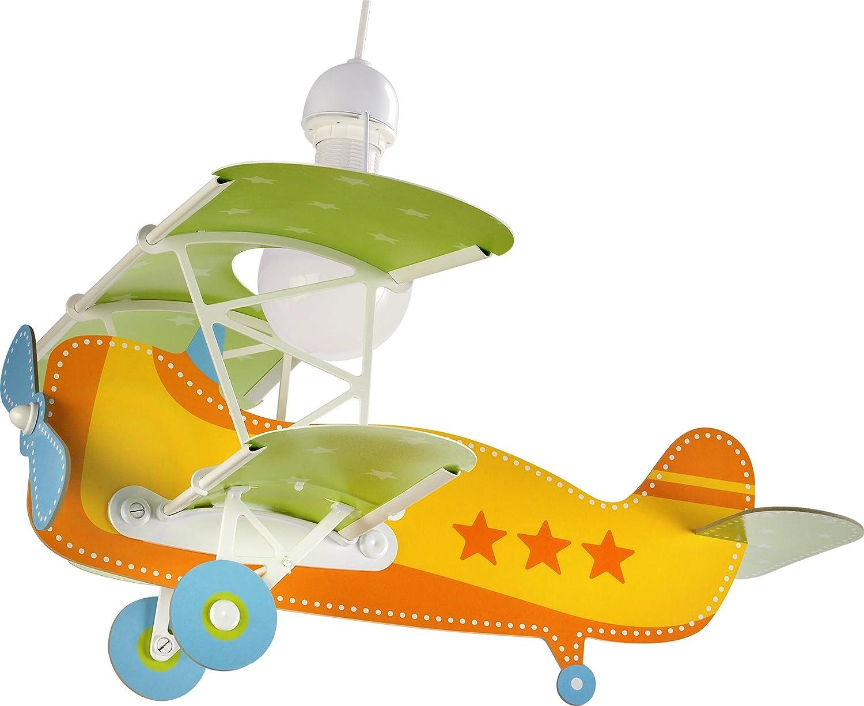 Kinderzimmer-Lampe Flieger Hänge-Lampe 54012 mit LED dimmbar ...