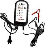 TAGLab C8 Battery Charger with Display - 12V / 24V Smart Charger / Maintainer - Car Bike Suv Truck