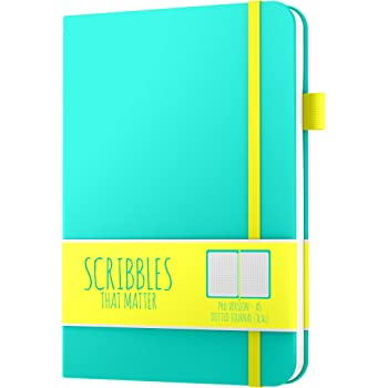 Dotted Journal by Scribbles That Matter - Create Your Own Unique Life Organizer - No Bleed A5 Hardcover Dotted Notebook with Inner Pocket - Fountain Pens Friendly Paper - Pro Version - Teal