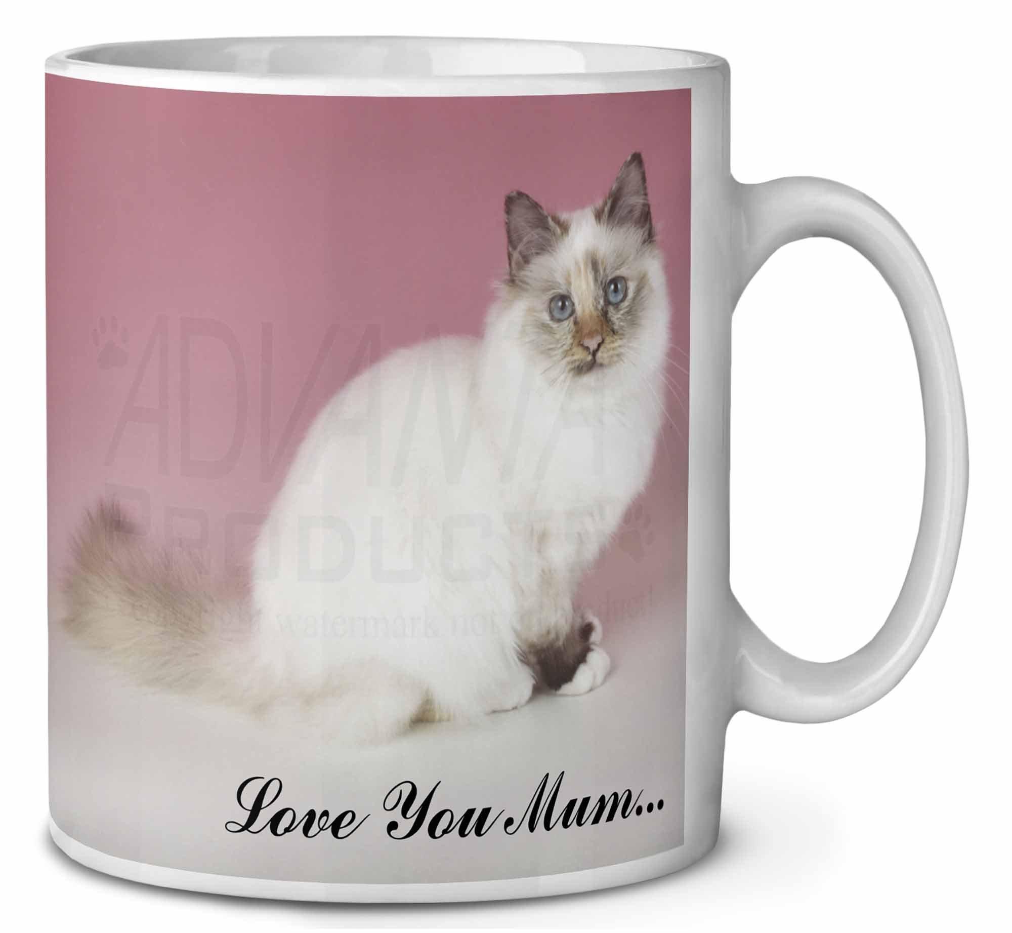 Gatto Sacro Di Birmania Love You Mum Tazza Di Caffã Di Compleanno