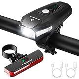 FUTURIST Luci Bicicletta Kit, Luce Anteriore e Posteriore per Bicicletta LED, Luce per Bicicletta Ricaricabile USB per Uomini