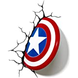 Light 816733002187 wandlamp Marvel Captain America-schild van 3D FX, rood, wit en blauw