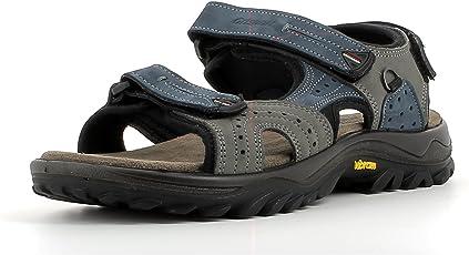 Grisport Bequeme Herren-Outdoor-Sandale mit drei verstellbaren Riemchen und abriebfester Vibram-Profilsohle