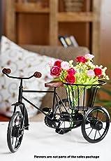 Special Matel Flower Rickshaw Showpiece Home Decor