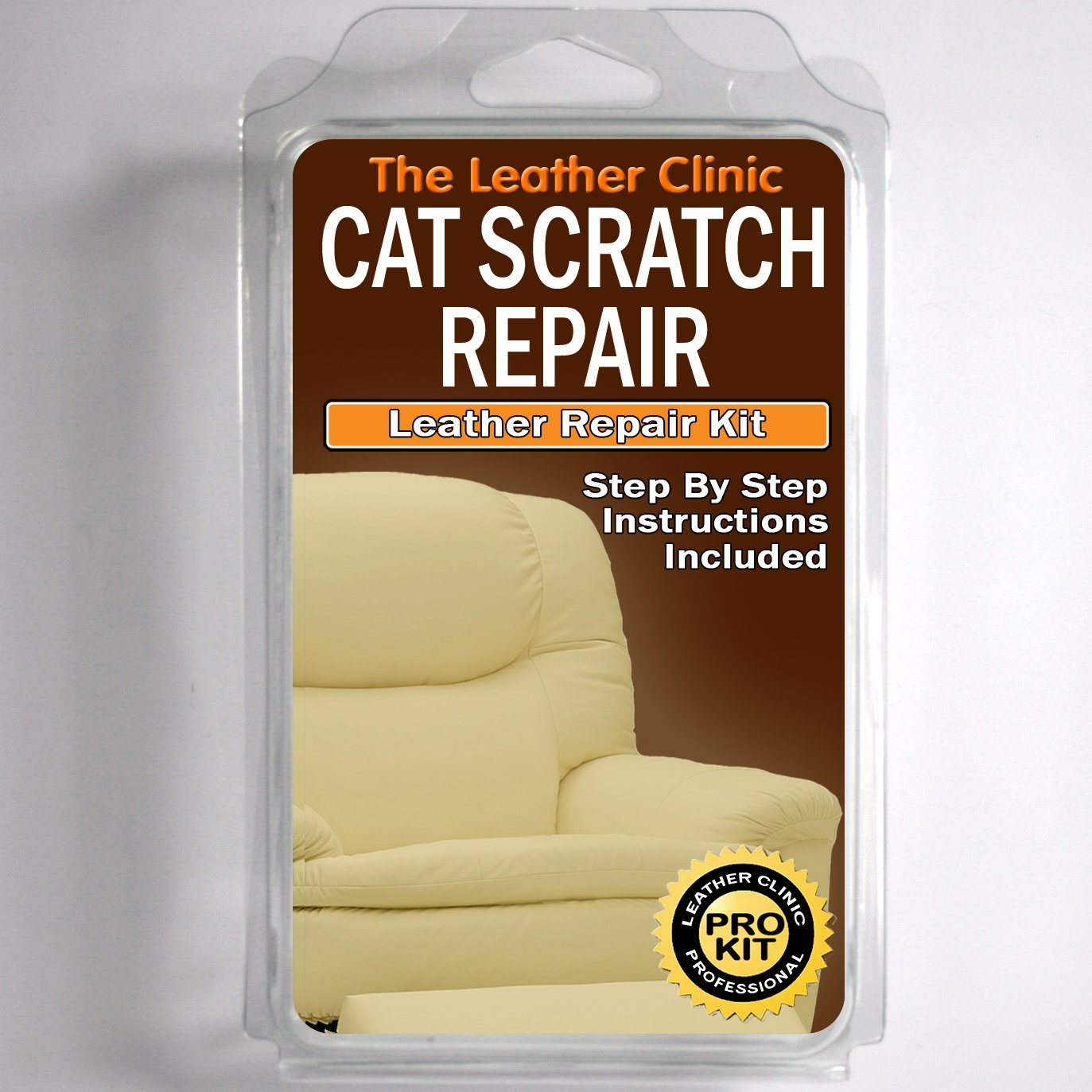 Leather CAT SCRATCH Repair Kit. Easy To Use. Complete With Filler U0026 Colour.  (Cream): Amazon.co.uk: Kitchen U0026 Home