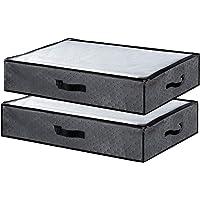 Awnic Sac de rangement sous le lit Boîte de rangement pour vêtements avec couvercle Rangement pour couettes Sac de…