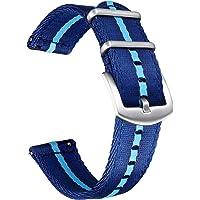 Bolyte - Cinturini a sgancio rapido, per uomini e donne, multicolori, cintura di sicurezza, in nylon, 20 mm, 22 mm