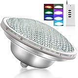 Roleadro LED Zwembadverlichting 21W PAR56 LED Zwembad onderwaterlicht RGB IP68 Waterdicht met Afstandsbediening Multi kleurwi