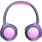 Philips KH402PK/00 Cuffie per Bambina Wireless Over Ear, Bluetooth, Limite Volume, 85 db, 20 Ore di Gioco, Pannello LED, Cusc