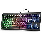 Rii RK104 Teclado Gamer con cable retroiluminado, teclado ...