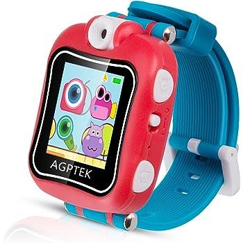 Smartwatch para Niños 4-9 Años, AGPTEK W6 Reloj Táctil Multifunción con Rotación Cámara, Juegos, Temporizador, Despertador, Color Rojo