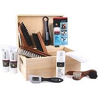 Die Schuhanzieher Kit per pulizia scarpe multifunzionale 13 pezzi con pratica scatola in legno 30 x 20 x 14 cm z2408