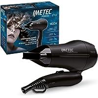 Imetec Power to Style Travel CT1 2000 Asciugacapelli da Viaggio, 1400 W, Doppio Voltaggio, Manico Pieghevole, Tasto…