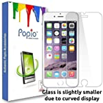 POPIO Tempered Glass Screen Protector For Apple iPhone 6 / iPhone 6S / iPhone 7 / iPhone 8 Full Screen Coverage With Easy...