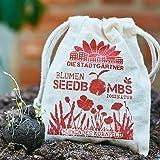 Die Stadtgärtner Samenbomben | Blühendes Kornfeld | 8 walnussgroße, handgemachte Seedballs | Enthält über 20 verschiedene Blumensorten