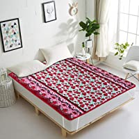 Comfort Homes Polyester Blend Elastic Strap King Size Waterproof Mattress Protector (Red)