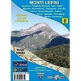Monti Lepini. Carta escursionistica 1:25.000