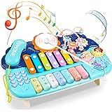 Lictin Jouet Musical BéBé - Jouets Musicaux Pour Bébés Avec Sons et Lumières, 6 en 1 Jouets éducatifs Multifonctionnels Clavi