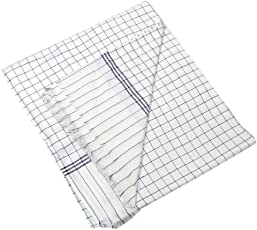 Style Urban 100% Cotton Soft Beautiful Blue Check Single Bed Size Skin Friendly Summer Blanket/Khes/Dohar/Top Sheet set of 2 Pcs.