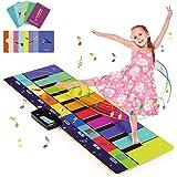 Joyjoz Alfombra Musical de Piano con 100+ Sonidos, Alfombra de Baile 4 Modos, Alfombra de Teclado para Niños Instrumentos Jug