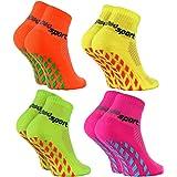 Rainbow Socks - Niñas Niños Calcetines Antideslizantes de Deporte