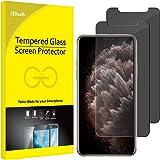 JETech Privacy Skärmskydd Kompatibel med iPhone 11 Pro Max och iPhone Xs Max 6,5-Tums, Anti Spy Härdat Glas Film, 2 Pack
