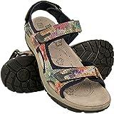 Zerimar Sandalias Trekking Velcro Piel | Sandalias Senderismo Cuero | Sandalias Deportivas Verano | Sandalias Senderismo Muje