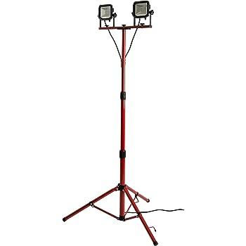 lampe de chantier smartwares tl400a avec tr pied 400 w r glable de 1 05 1 92 m amazon. Black Bedroom Furniture Sets. Home Design Ideas