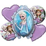 amscan 2901101 Die Eiskönigin Folienballonset Frozen, 5-teilig