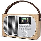 LEMEGA M2+ WIFI Internet Radio,Digitale DAB/DAB+ En FM Radio, Bluetooth Luidspreker,Draagbare DAB Radio, Hoofdtelefoonaanslui