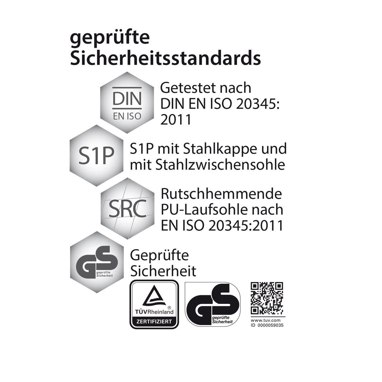 WORK2DO Sportlicher Sicherheitsschuhe Arbeitsschuhe S1P, SRC1, Berufsschuhe, Schwarz/Blau