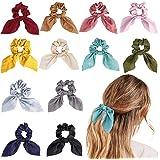 URAQT 12 Piezas Hair Scrunchies Elastic Hair Ties Scrunchy Hair Bands, Elásticos Banda de Pelo Elástico para Mujeres y Chicas