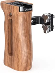 Smallrig Universal Wooden Handle Mit Threaded Holes Und Cold Shoe Holder Verstellbarer Griff Für Kamera Cage 2093 Elektronik