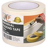 LNP Tools Schildercrêpe 30 mm x 50 m (extra sterk) crêpeband 3-pack voor schilderwerk