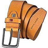 Pierre Cardin - Cinturón de piel para hombre y hombre, piel vegana, color marrón