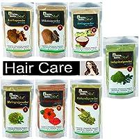 Online Quality Store Reetha (50g) + Amla (50g) + Shikakai (50g) + Bhringraj (50g) + Hibiscus (50g) + Mehandi (50g) + free Indigo (50g) Powder For Hairs, 350g