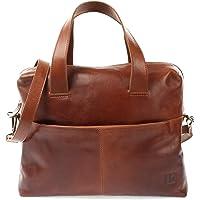 LECONI Schultertasche Henkeltasche für Frauen DIN-A4 Businesstasche Handtasche Leder Shopper für Damen 36x26x12cm LE0059