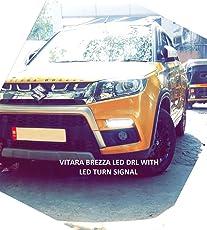 VOLMAX Maruti Suzuki Vitara Brezza Led Drl (Day Time Running Lights) with Turn Signal