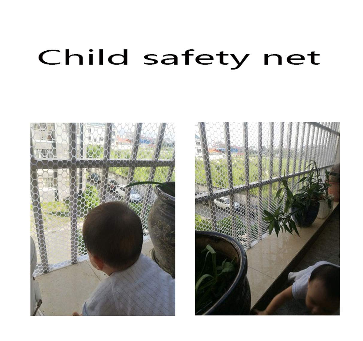 Plastic Garden Net Mesh Barrier Safety Fence Netting Balcony Stairs Safety Fence Chicken Net Cat Net Plant Support Fence (Size : 2 * 50m) NNFHW ♦ Plastic safety mesh with a diameter of 1.8cm prevents children's head and body from falling through the railing and prevents toys and shoes from falling from the gap between the armrests. It can even be used as a pet safety door. Provide a safe gaming environment for children. ♦ Lawn protective grilles are used to reinforce large areas of flat surfaces, especially parks and lawn areas, slopes and embankments. The turf grid increases the load-bearing capacity of the soil. Effectively prevents the formation of ruts. Suitable for short-term parking, driveways, etc. ♦ Plastic flat net waterproof, wear-resistant, tough, light weight, long service life, non-toxic and tasteless, high transparency. Ideal for interior and exterior of residential buildings such as railings, stairs, cots, hallways, balconies, etc. The honeycomb design does not interfere with your view. 5