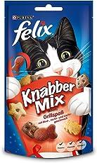 Felix Knabber Mix KatzenSnack Grillspaß, 8er Pack (8 x 60 g)
